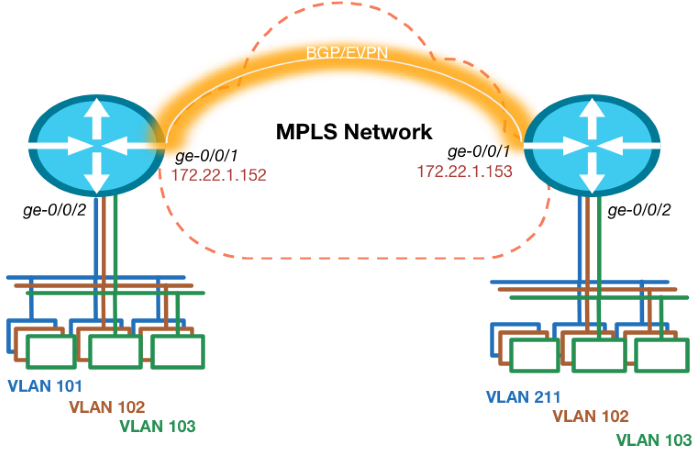 Network Topology for EVPN